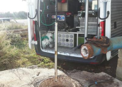Diagnóstico de sondeo mediante reconocimiento videográfico y geofísico con sondas de calidad en El Ejido  (Almería).