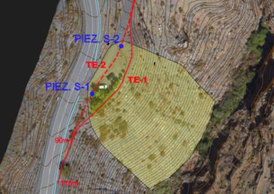 Estudio de Estabilidad e Instalación de piezómetros de control para Sellado del Vertedero de Inertes de Castro de Filabres