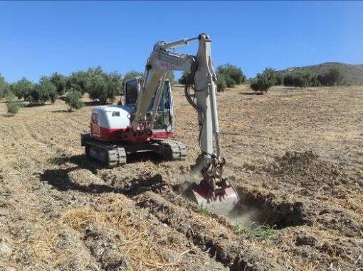 Calicatas, Toma de muestras y Ensayos de Laboratorio para caracterización de materiales en Guejar Sierra (Granada)